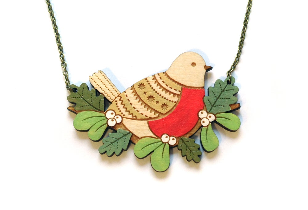 Winter Robin Necklace