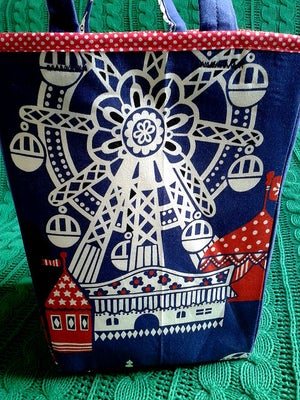 Image of 'Navy Funfair' boxbag