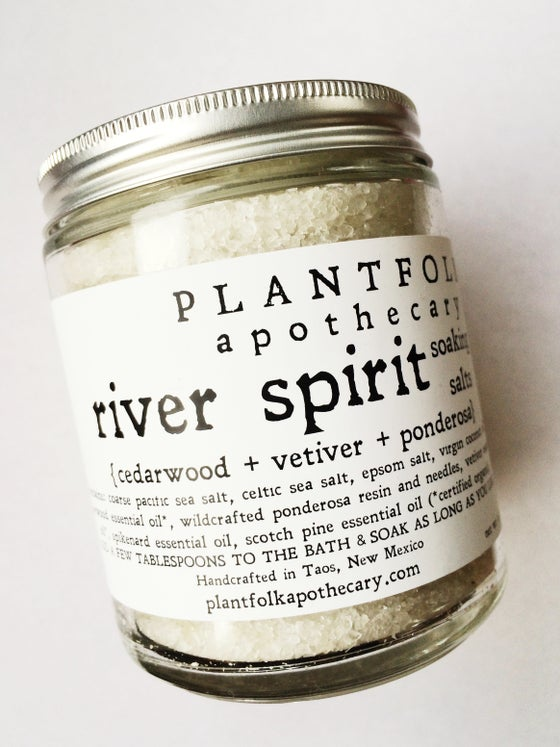 Image of river spirit // ponderosa + cedarwood botanical salt soak