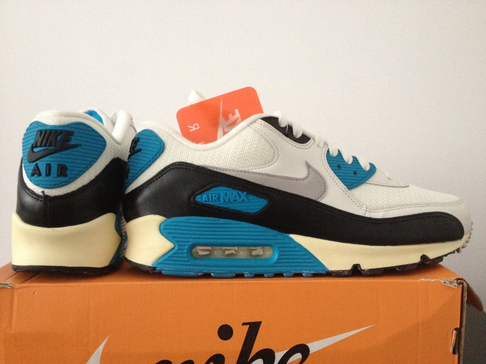 big sale 40037 9a83f ... Image of NIKE AIR MAX 90 LASER BLUE OG VINTAGE 2014 ...