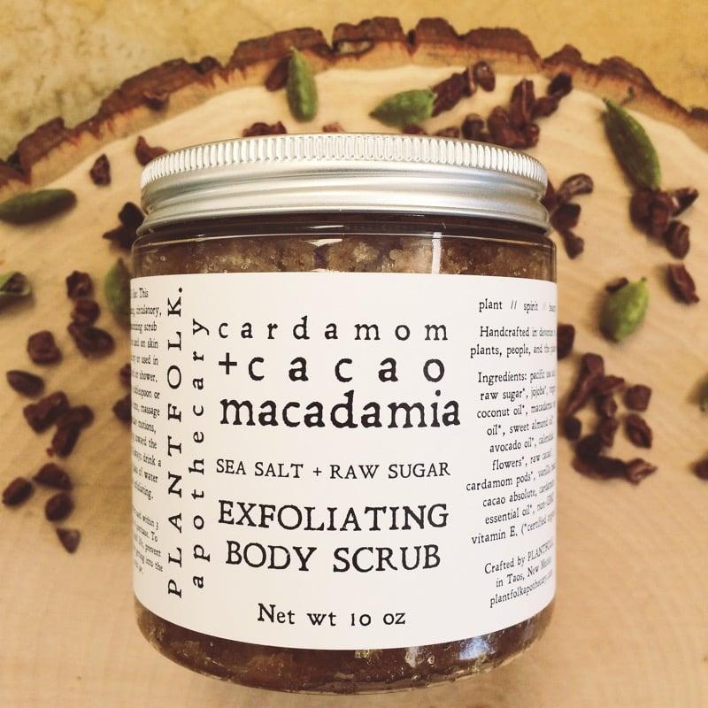 Image of cacao + cardamom + macadamia body scrub