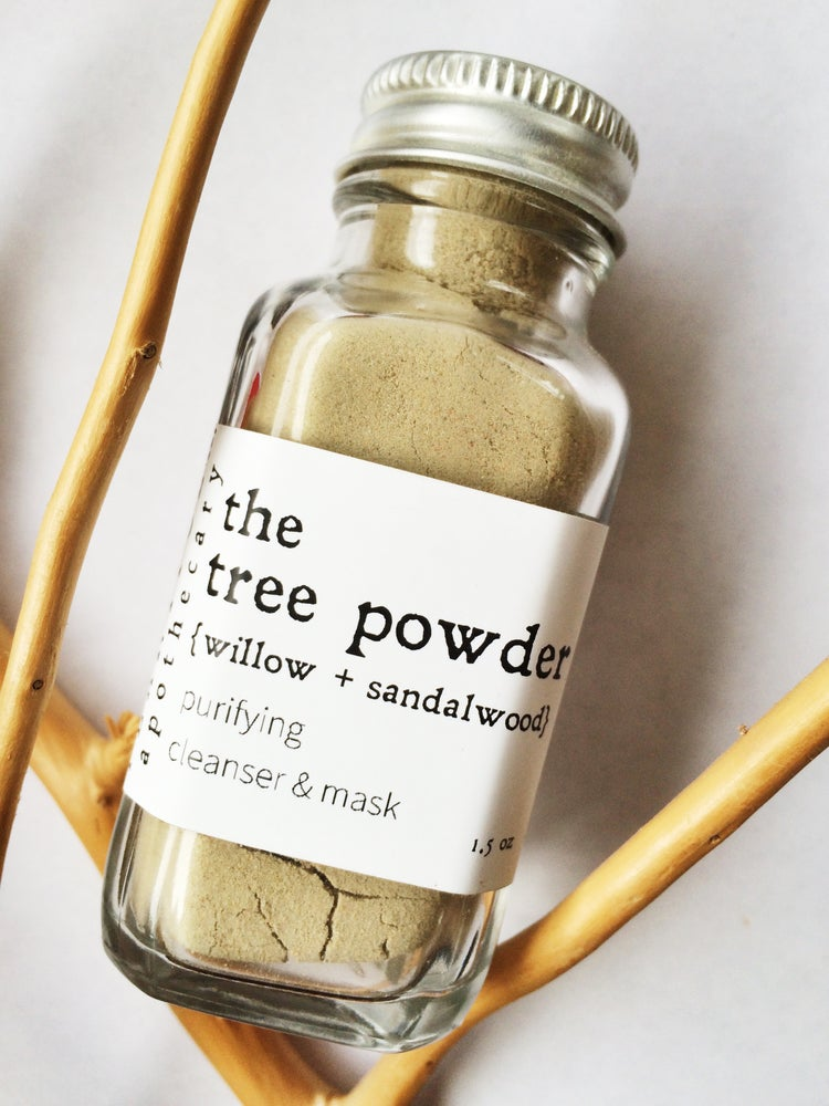 Image of the tree powder {willow + sandalwood} facial cleanser/mask
