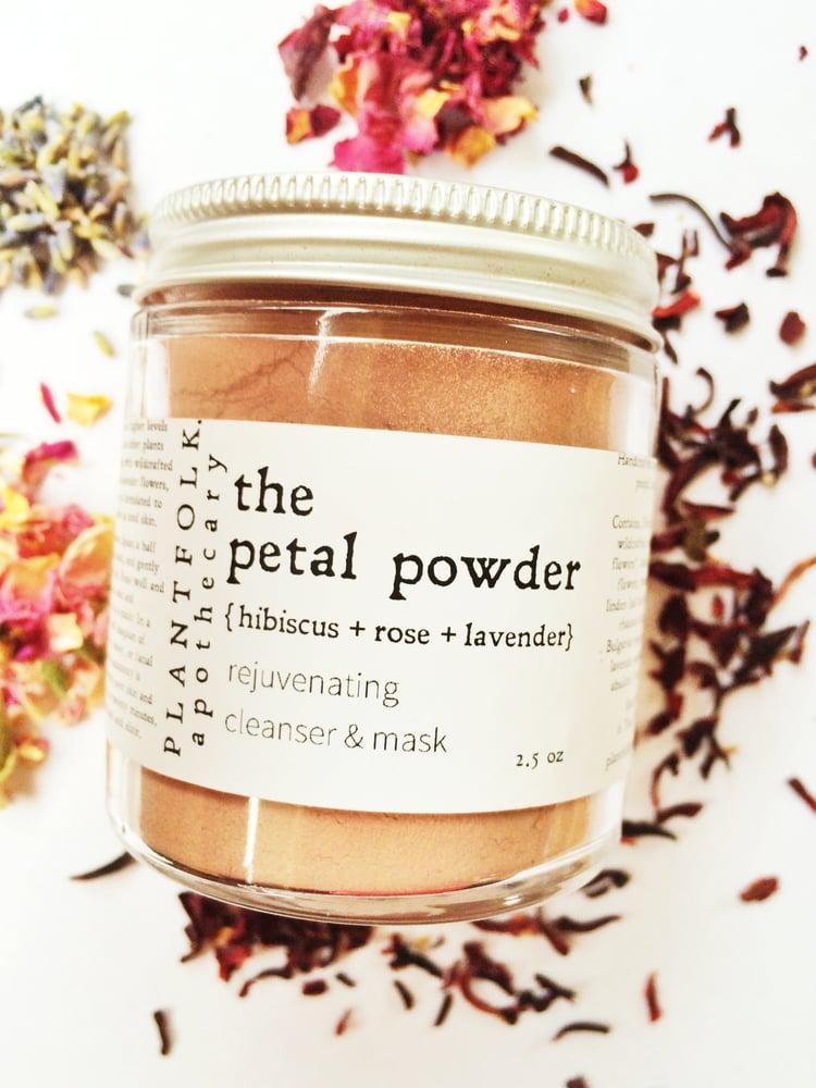 Image of the petal powder {hibiscus + rose + lavender} rejuvenating cleanser/mask