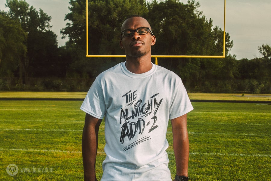 """Image of """"Almighty Add-2"""" T-Shirt (White)"""