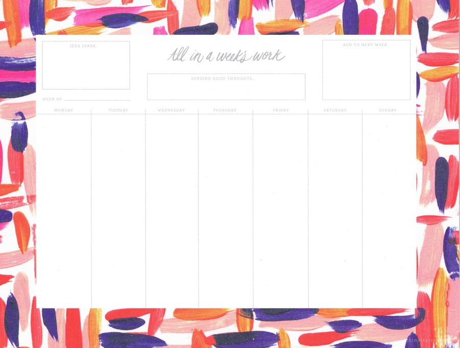 Image of Thimblepress weekly desk planner