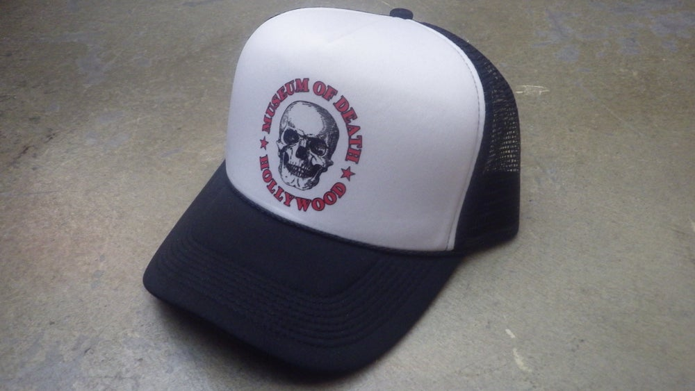 "Image of M.O.D. Black & White Logo Mesh ""Trucker"" Hat"