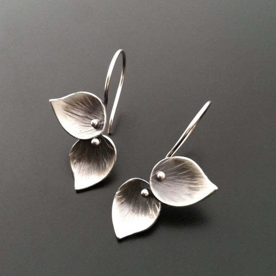Image of Petite Double Leaf Earrings