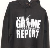 Image of Grime Report Hooded Top (Black) [Sold OUT]
