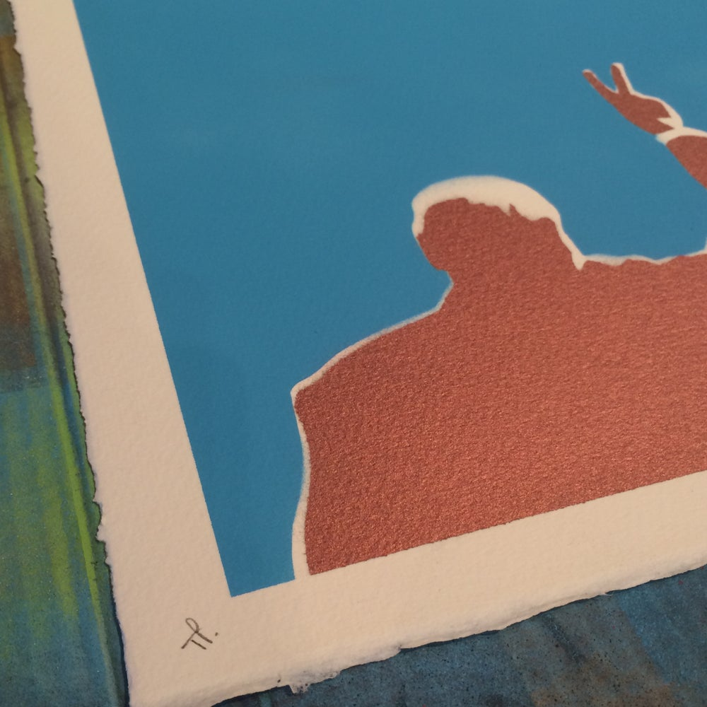 Image of CHURCHILL'S WHITE RABBIT TEST PRINT by Ads