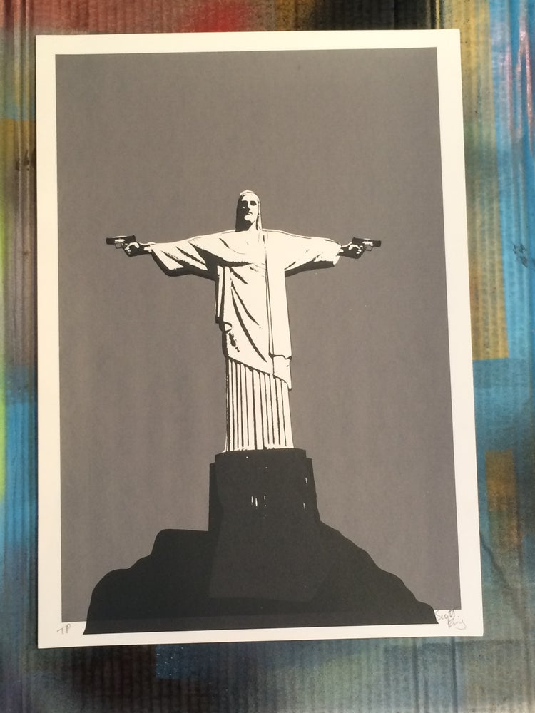 Image of MANOS DE CHRISTO TEST PRINTby Scott King