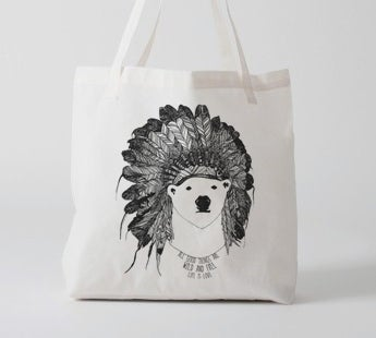 Image of Canvas Animal Tote