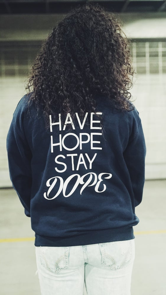 Image of Navy JBD Hope Crewneck