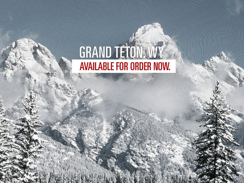 Image of Grand Teton Letterpressed Topographic Poster