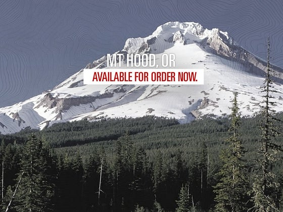 Image of Mt. Hood Letterpressed Topographic Poster