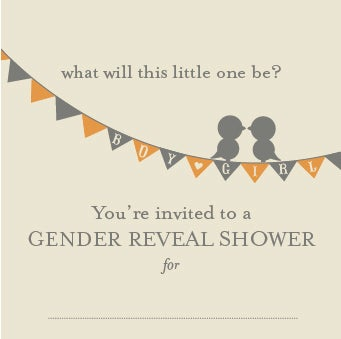 Image of Gender Reveal Baby Shower Invitation