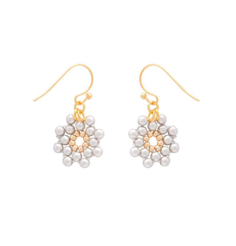 Image of Dove Pearl Daisy Earrings