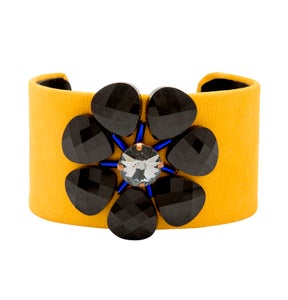 Image of Black Daisy Cuff