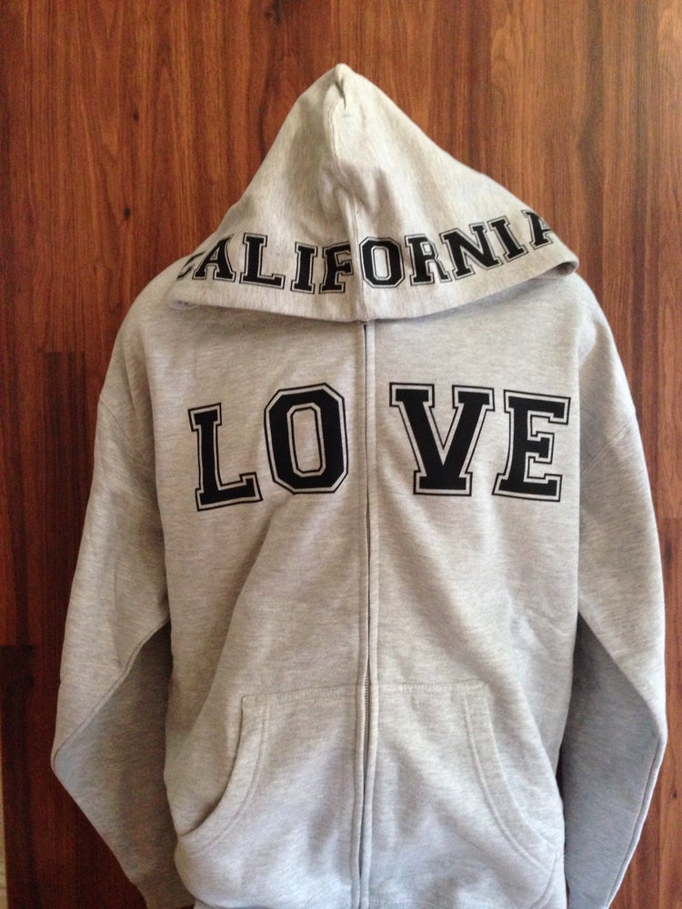 Image of Ladies - California Love Gray Zip up hoody