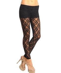 Image of Black lace leggins