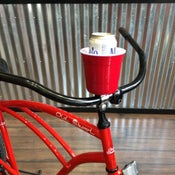 Image of Red Cup Handle Bar Mount Drink Holder