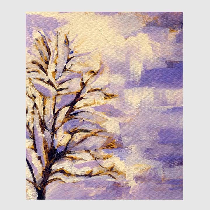 Image of winter tree: print