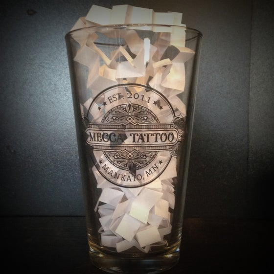 Image of Mecca Tattoo Pint Glass