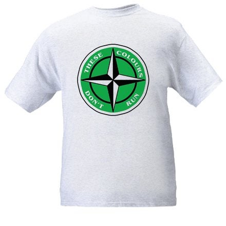 These Colours Don't Run Green & Black Star Design T-Shirt.