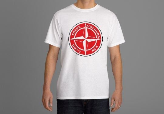 Image of These Colours Don't Run Red & White Star Design T-Shirt.
