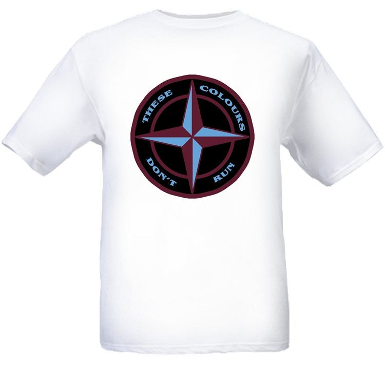 These Colours Don't Run Maroon & Blue Star Design T-Shirt.
