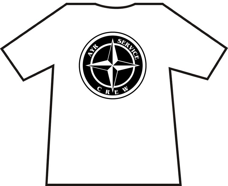 Ayr Service Crew Star Badge T-Shirts.