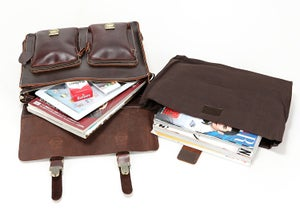 "Image of Handmade Superior Leather Briefcase / Messenger / 14"" 15"" Laptop 13"" 15"" MacBook Bag (n67-12)"