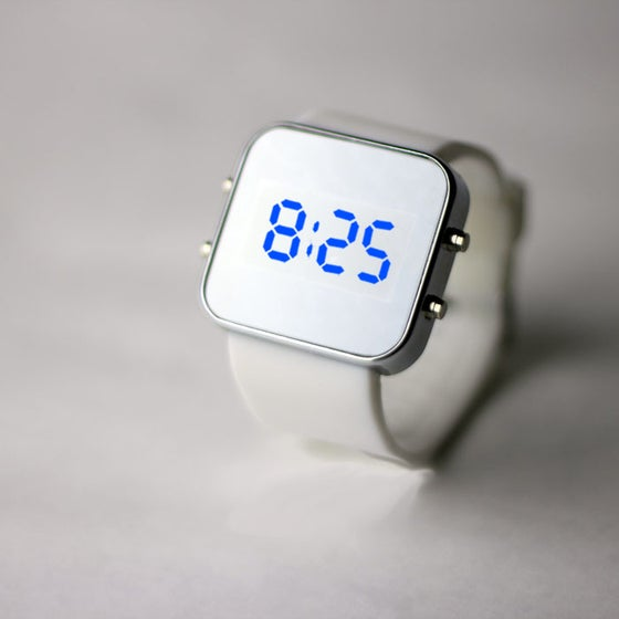 Image of White Silicon Watch