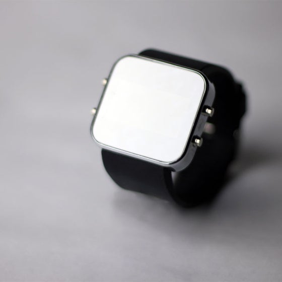 Image of Black Silicon Watch