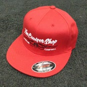 Image of The Cruiser Shop - Pinstripe Logo Flat Bill - assorted colors