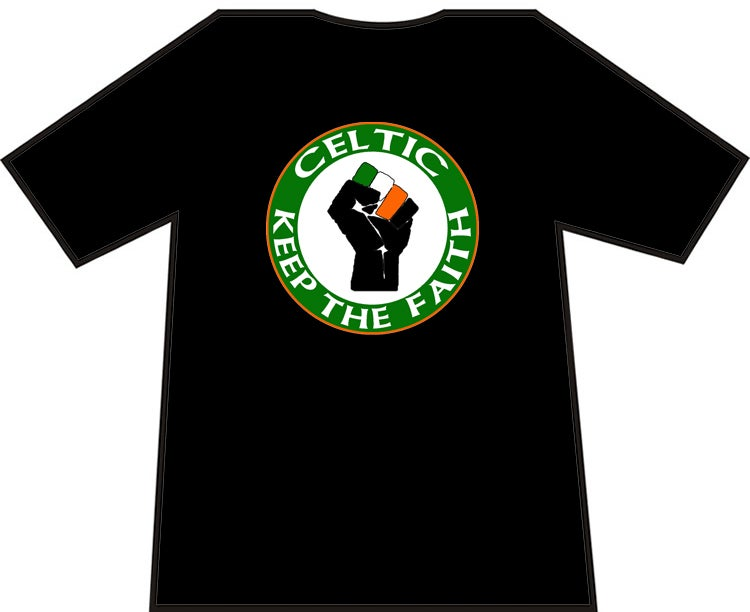 Image of Celtic Keep The Faith Ultras/Casuals T-shirts.