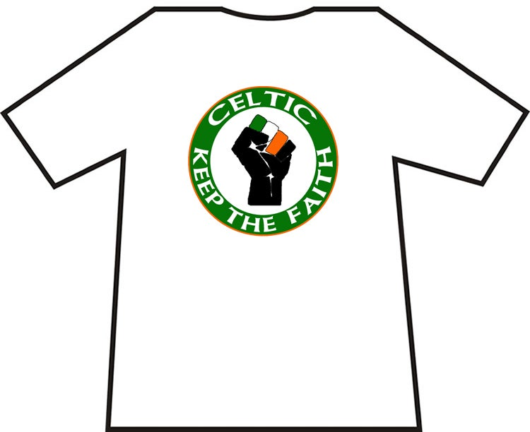 Celtic Keep The Faith Ultras/Casuals T-shirts.