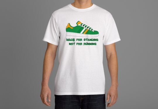 Image of Celtic & Ireland Made For Standing not Running Casuals/Hooligans/Ultras T-Shirts.