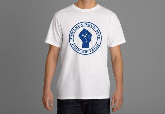 Image of Chelsea Soul Boys. Keep The Faith T-shirts.
