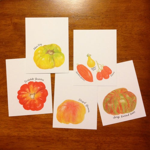 Image of heirloom tomato postcards -- pack of 10