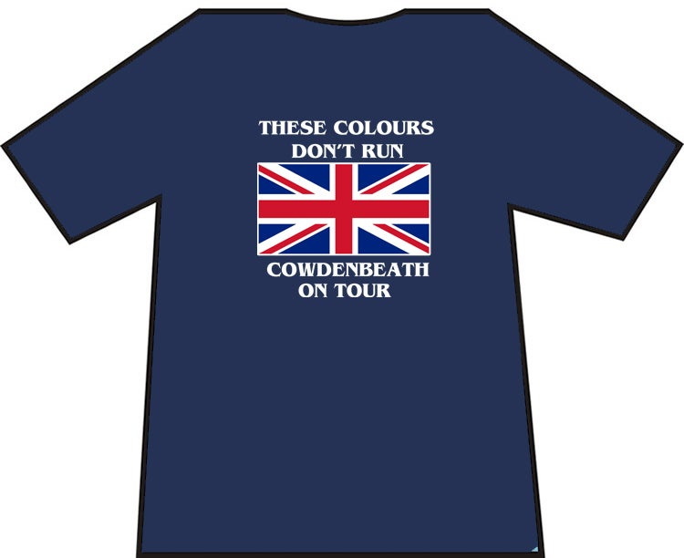 Image of These Colours Don't Run. Cowdenbeath on Tour Casuals T-shirts. Ultras, Hooligans T-shirts.