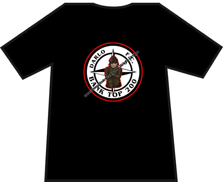 Darlington, Darlo Bank Top 200 Casuals T-shirts. Ultras, Hooligans.