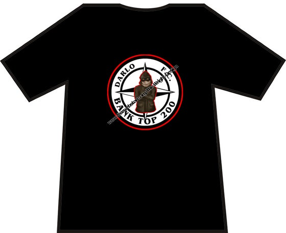 Image of Darlington, Darlo Bank Top 200 Casuals T-shirts. Ultras, Hooligans.