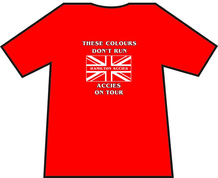 These Colours Don't Run. Hamilton Accies On Tour Casuals T-Shirts.