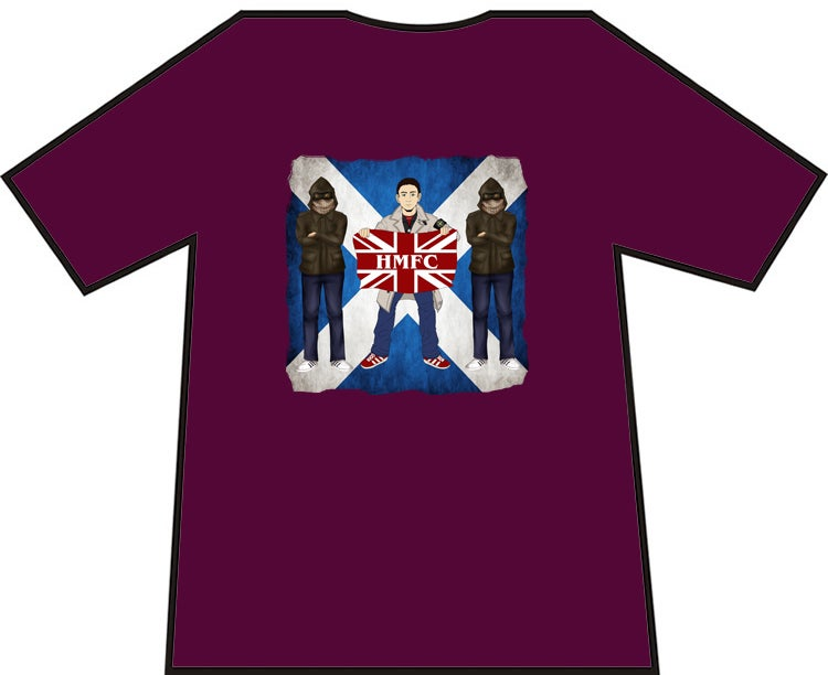Image of Hearts 3 Casuals With Flag T-shirts. Casuals T-shirts.