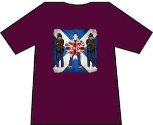 Hearts 3 Casuals With Flag T-shirts. Casuals T-shirts.