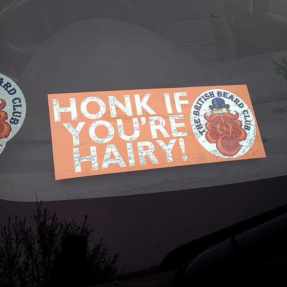 Image of Honk If You're Hairy Car Sticker