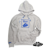 ((SIKA x ibun)) blue cheese hooded sweater with matching camo draw string.