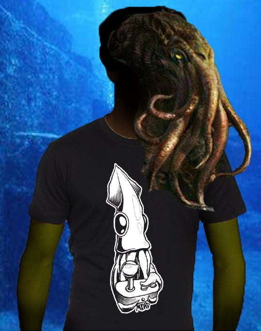 Image of Squideo Games shirt (Squid + Joystick = Fun)