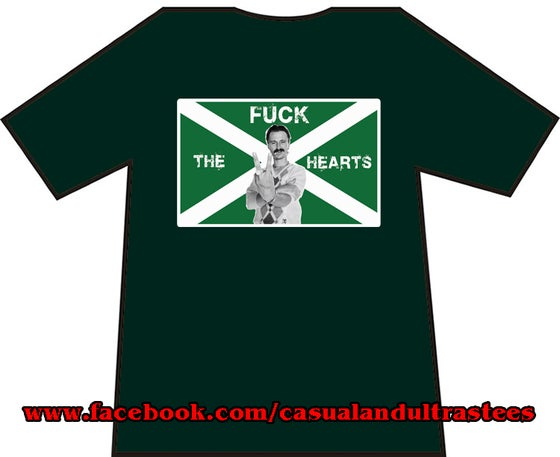 Image of Hibs, Hibernian, Begbie Fuck The Hearts T-shirts.