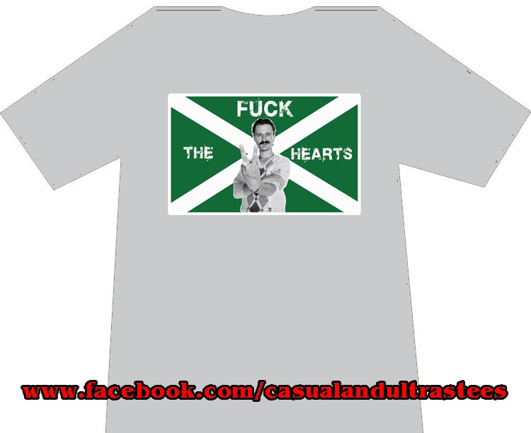 Hibs, Hibernian, Begbie Fuck The Hearts T-shirts.